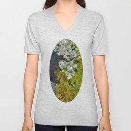 Tree Bark with Lichen#8 Unisex V-Neck