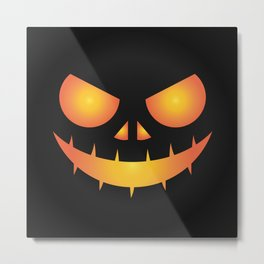 The Scary Face Metal Print
