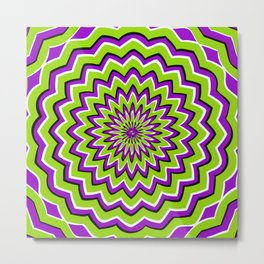 Optical Illusion moving pattern Metal Print