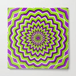 Optical Illusion moving pattern Metal Print