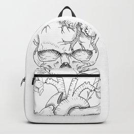 skull heart flower Backpack