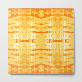 Satin Shibori Yellow Metal Print