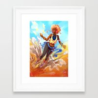 always sunny Framed Art Prints featuring Always Sunny by Art of Golden Muse