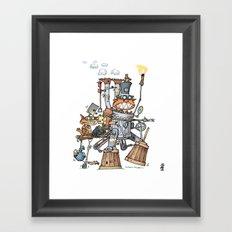 Steampunk Kobolds Framed Art Print