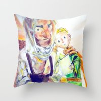 le petit prince Throw Pillows featuring Le Petit Prince by Halina  Jasińska photography