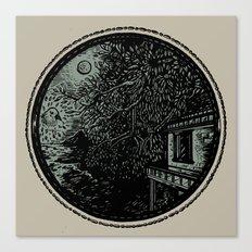 Miniature Circle Landscape 1: Morning Vision Canvas Print