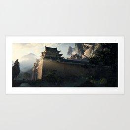 Kuwagata Castle / 02 Art Print