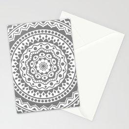 Mandala #3 (gray) Stationery Cards