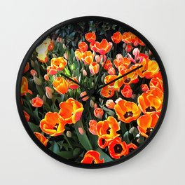 Red Tulips of Istanbul Wall Clock
