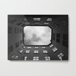 Diminishing perspective view from  building internal yard Metal Print