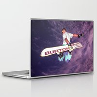 snowboarding Laptop & iPad Skins featuring Snowboarding #2 by Bruce Stanfield
