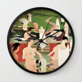 Felix Edouard Vallotton - Summer Evening Bathing - Digital Remastered Edition Wall Clock