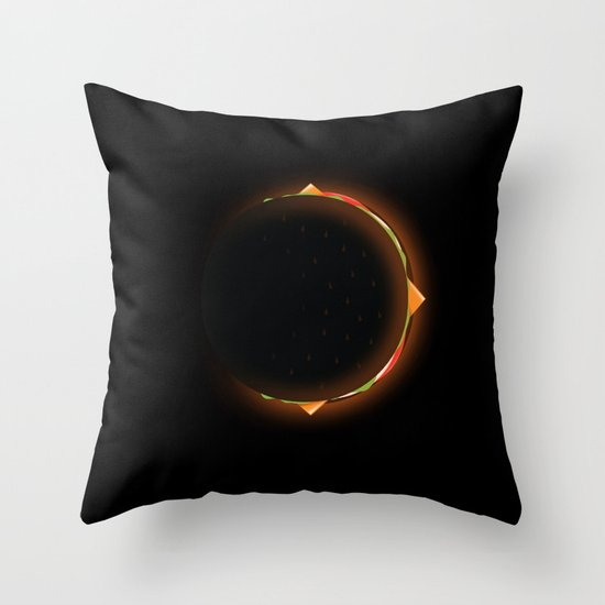 Burger Eclipse Throw Pillow