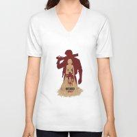 bioshock infinite V-neck T-shirts featuring Bioshock Infinite - Booker and Elizabeth by Art of Peach