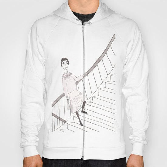 girl on a stair Hoody