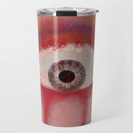 Red eye of selfish Travel Mug