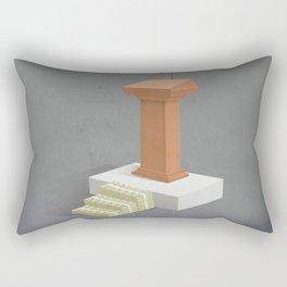 Politics and Corruption Rectangular Pillow