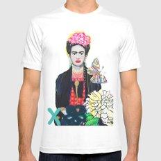Frida Kahló White MEDIUM Mens Fitted Tee