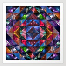 Space Quilt Art Print