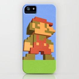 Mario NES nostalgia iPhone Case