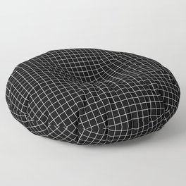 Black Grid Floor Pillow