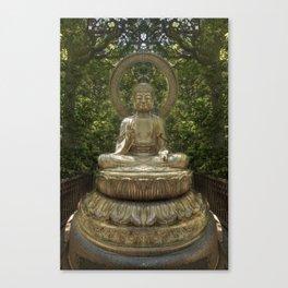 A Buddha in the Japanese Tea Garden, Golden Gate Park, San Francisco, California Canvas Print