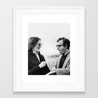 annie hall Framed Art Prints featuring ANNIE HALL by VAGABOND