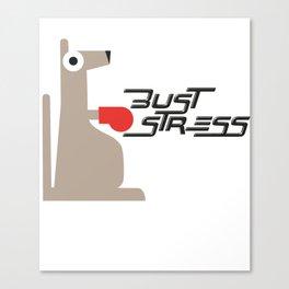 Bust Stress, Be Kangaroo Fighting Boxfit Gym Workout Canvas Print