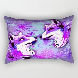 Purple Fox Spirit Rectangular Pillow