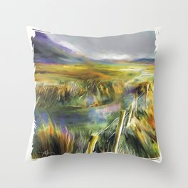Approaching Rain - Achill Island - Ireland Throw Pillow