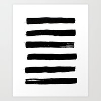 black paint stripes Art Print