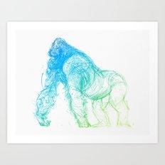 gorilla_001_color Art Print