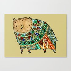 Aztec Bear Canvas Print