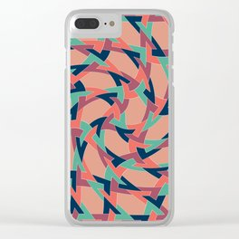 Lens on Geometric pattern 1977 Clear iPhone Case