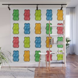 Rainbow Gummy Bears Wall Mural