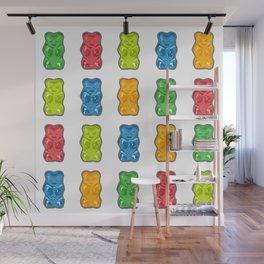 Rainbow Gummy Bears Wall Mural