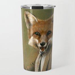 Vintage Fox In Suit Travel Mug