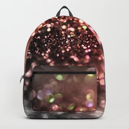 Copper gray and black shiny glitter print - Sparkle Luxury Backdrop Backpack