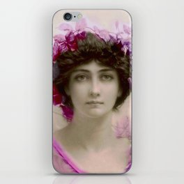 Beautiful,young lady,Belle epoque,victorian era, vintage, angelic girl, beautiful,floral,gentle,peac iPhone Skin
