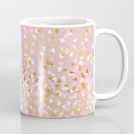 Floating Confetti - Pink Blush and Gold Coffee Mug