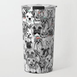 just dogs coral mint Travel Mug