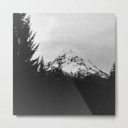 Mt. Hood B&W Metal Print
