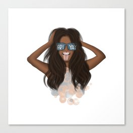 African American Girl With Glasses Friyay Canvas Print