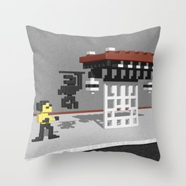 BruceLee Commodore 64 game tribute Throw Pillow