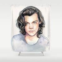 coconutwishes Shower Curtains featuring Harry Watercolors II by Coconut Wishes