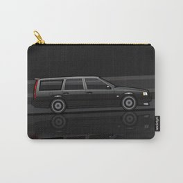 Volvo 850R 855R T5 'Swedish Turbo Wagon' Black Speed Stripes Carry-All Pouch