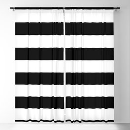 Abstract Black and White Stripe Lines 6 Blackout Curtain