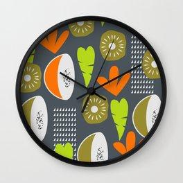 Modern fruity fruits Wall Clock