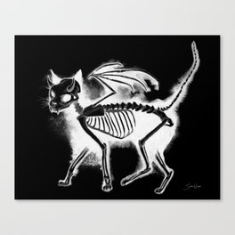 Devil Kitty - inverted Canvas Print