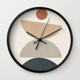 Minimal Shapes No.33 Wall Clock